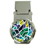 Mosaic Shapes Money Clip Watches Front