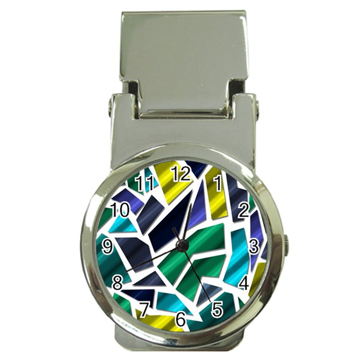 Mosaic Shapes Money Clip Watches