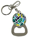 Mosaic Shapes Bottle Opener Key Chains Front