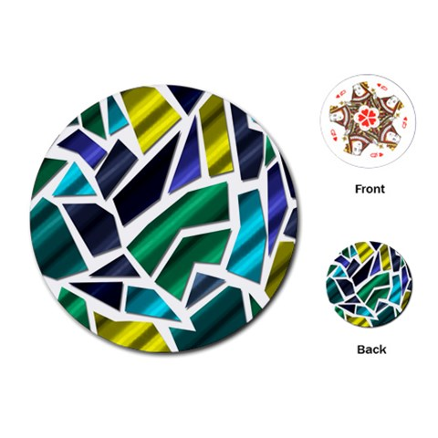 Mosaic Shapes Playing Cards (Round)