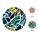 Mosaic Shapes Playing Cards (Round)  Front