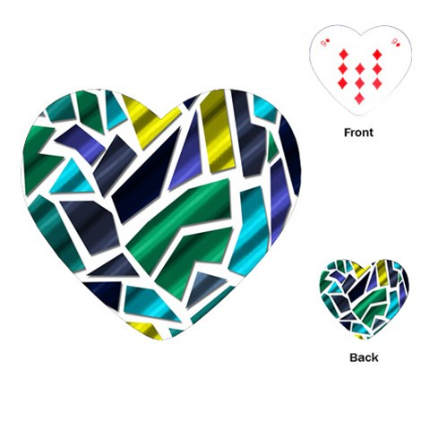 Mosaic Shapes Playing Cards (Heart)