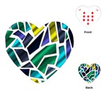 Mosaic Shapes Playing Cards (Heart)  Front