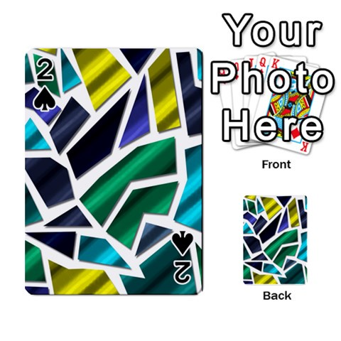 Mosaic Shapes Playing Cards 54 Designs