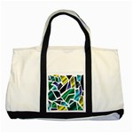 Mosaic Shapes Two Tone Tote Bag Front