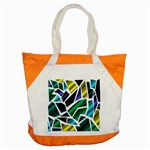 Mosaic Shapes Accent Tote Bag Front