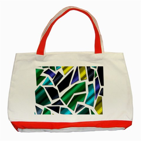Mosaic Shapes Classic Tote Bag (Red)