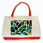 Mosaic Shapes Classic Tote Bag (Red) Front
