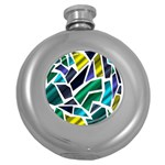 Mosaic Shapes Round Hip Flask (5 oz) Front