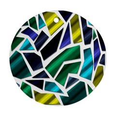 Mosaic Shapes Round Ornament (Two Sides)
