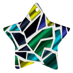 Mosaic Shapes Star Ornament (Two Sides)