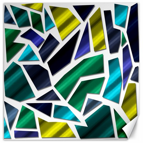 Mosaic Shapes Canvas 20  x 20