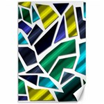 Mosaic Shapes Canvas 24  x 36  36 x24 Canvas - 1