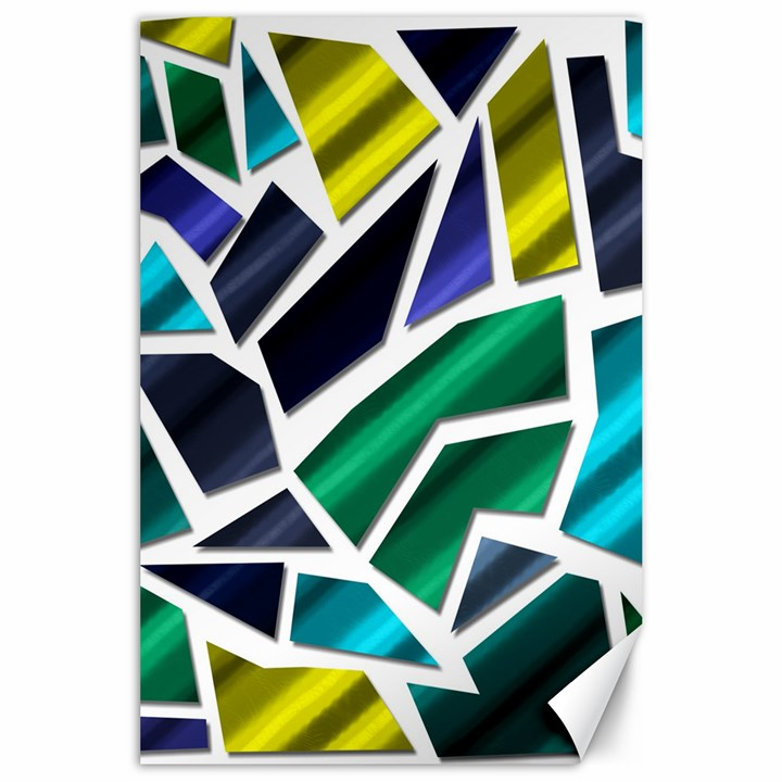Mosaic Shapes Canvas 24  x 36