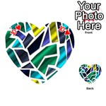Mosaic Shapes Playing Cards 54 (Heart)  Front - Heart10