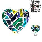 Mosaic Shapes Playing Cards 54 (Heart)  Front - ClubQ