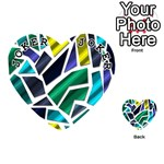 Mosaic Shapes Playing Cards 54 (Heart)  Front - Joker1