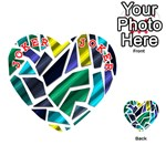 Mosaic Shapes Playing Cards 54 (Heart)  Front - Joker2