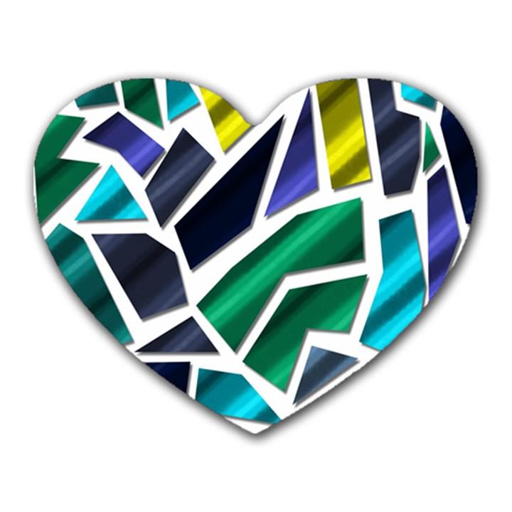 Mosaic Shapes Heart Mousepads