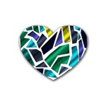 Mosaic Shapes Rubber Coaster (Heart)  Front