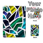 Mosaic Shapes Multi-purpose Cards (Rectangle)  Back 15