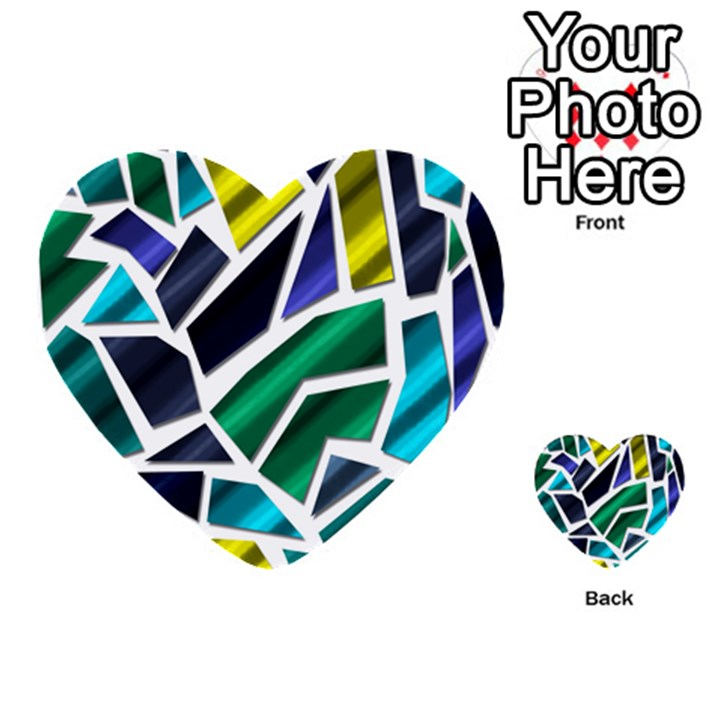 Mosaic Shapes Multi-purpose Cards (Heart)