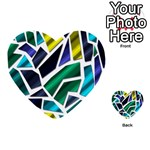 Mosaic Shapes Multi-purpose Cards (Heart)  Front 13