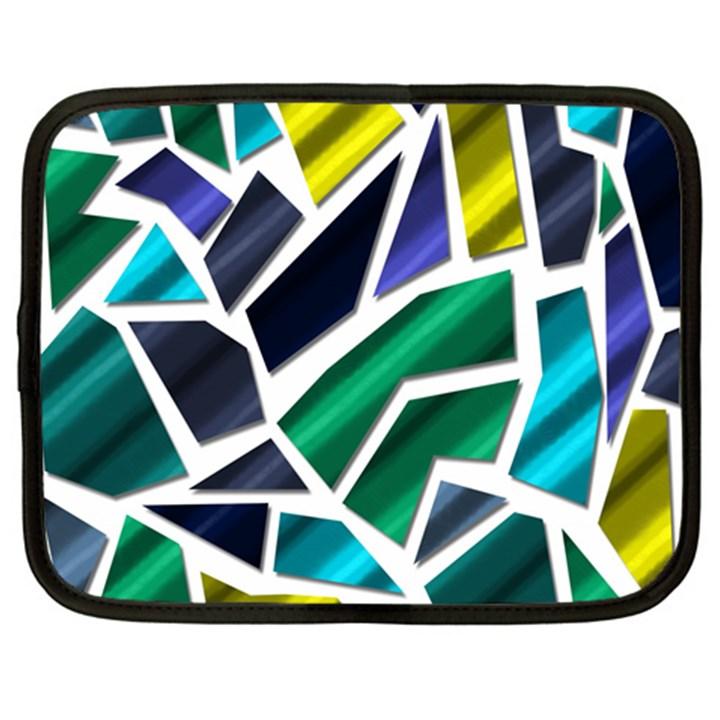Mosaic Shapes Netbook Case (Large)