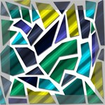 Mosaic Shapes Mini Canvas 8  x 8  8  x 8  x 0.875  Stretched Canvas