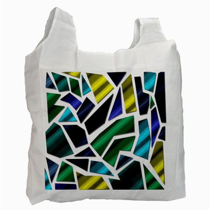 Mosaic Shapes Recycle Bag (One Side)