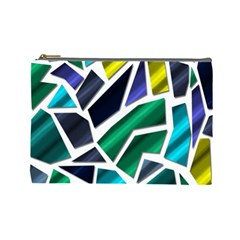 Mosaic Shapes Cosmetic Bag (Large)