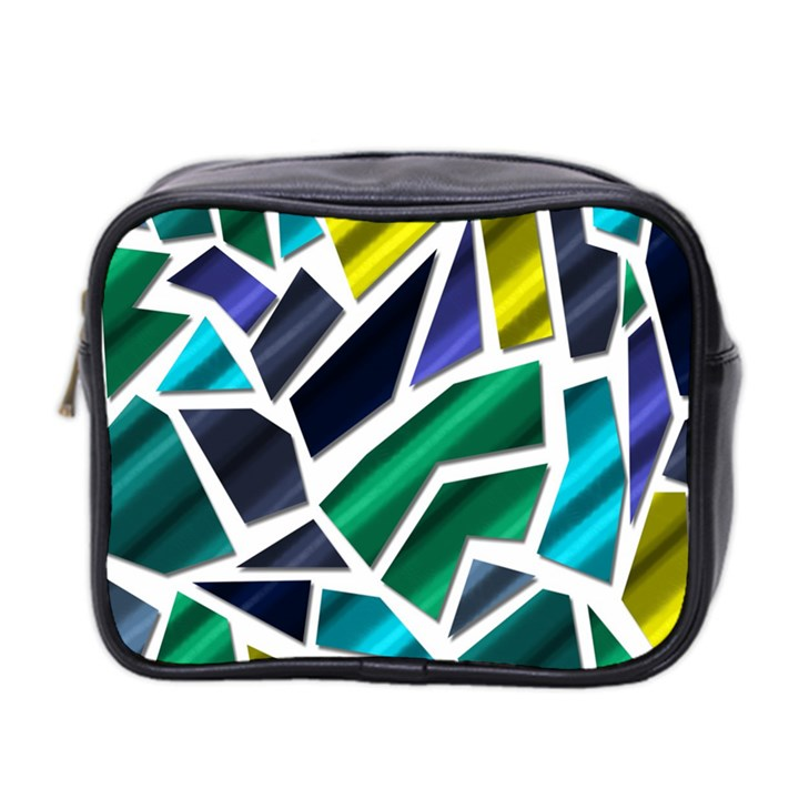 Mosaic Shapes Mini Toiletries Bag 2-Side