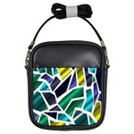 Mosaic Shapes Girls Sling Bags Front