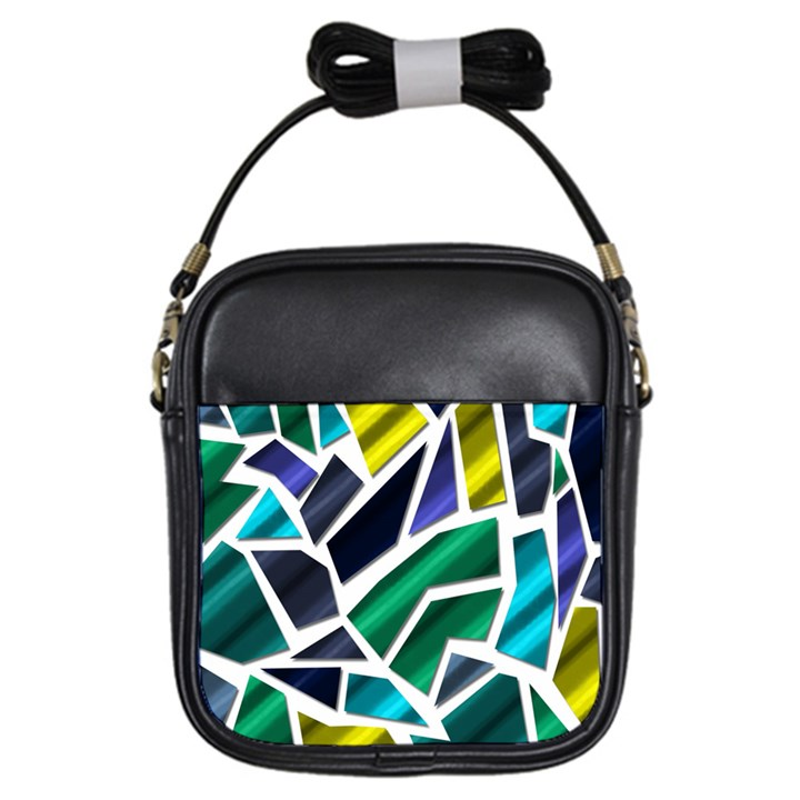 Mosaic Shapes Girls Sling Bags