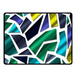 Mosaic Shapes Fleece Blanket (Small) 50 x40 Blanket Front