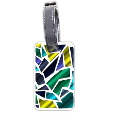Mosaic Shapes Luggage Tags (Two Sides)