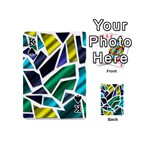 Mosaic Shapes Playing Cards 54 (Mini)  Front - SpadeK