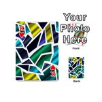 Mosaic Shapes Playing Cards 54 (Mini)  Front - HeartK