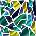 Mosaic Shapes Storage Stool 12   Left