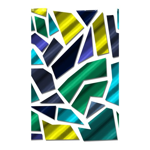 Mosaic Shapes Shower Curtain 48  x 72  (Small)