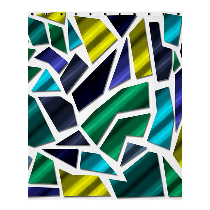 Mosaic Shapes Shower Curtain 60  x 72  (Medium)