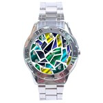 Mosaic Shapes Stainless Steel Analogue Watch Front