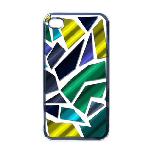 Mosaic Shapes Apple iPhone 4 Case (Black)