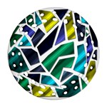 Mosaic Shapes Ornament (Round Filigree)  Front