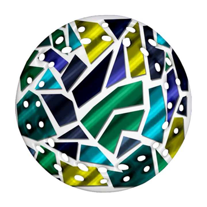Mosaic Shapes Ornament (Round Filigree)