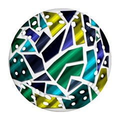 Mosaic Shapes Round Filigree Ornament (2Side)