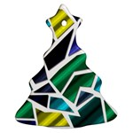 Mosaic Shapes Christmas Tree Ornament (2 Sides) Front