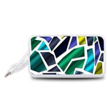 Mosaic Shapes Portable Speaker (White)  Front