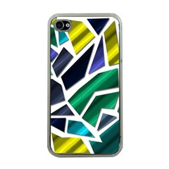 Mosaic Shapes Apple iPhone 4 Case (Clear)