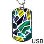 Mosaic Shapes Dog Tag USB Flash (Two Sides)  Front